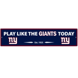 New York Giants Street Sign Wall Plaque