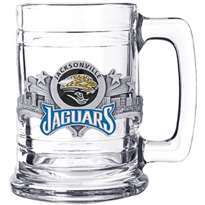 NFL Colonial Tankard - Jacksonville Jaguars - Our Jacksonville Jaguars 15 oz collector colonial tankard contains a uniquely sculpted and enameled three dimensional emblem that is designed to depict both the team and its community.  Officially licensed NFL product Licensee: Siskiyou Buckle Thank you for visiting CrazedOutSports.com