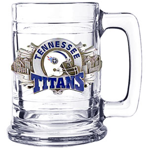NFL Colonial Tankard - Tennessee Titans - Our Tennessee Titans 15 oz collector colonial tankard contains a uniquely sculpted and enameled three dimensional emblem that is designed to depict both the team and its community.  Officially licensed NFL product Licensee: Siskiyou Buckle .com