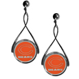 Chicago Bears Tear Drop Earrings - Our Chicago Bears are a sporty twist on the classic tear drop earrings. The high polish dangle earrings feature the team logo in raised metal against the primary team color inset into the 2 inch tear drop setting. The earrings have hypoallergenic stud posts. Officially licensed NFL product Licensee: Siskiyou Buckle .com