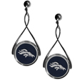 Denver Broncos Tear Drop Earrings - Our Denver Broncos are a sporty twist on the classic tear drop earrings. The high polish dangle earrings feature the team logo in raised metal against the primary team color inset into the 2 inch tear drop setting. The earrings have hypoallergenic stud posts. Officially licensed NFL product Licensee: Siskiyou Buckle Thank you for visiting CrazedOutSports.com
