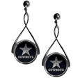 Dallas Cowboys Tear Drop Earrings - Our Dallas Cowboys are a sporty twist on the classic tear drop earrings. The high polish dangle earrings feature the team logo in raised metal against the primary team color inset into the 2 inch tear drop setting. The earrings have hypoallergenic stud posts. Officially licensed NFL product Licensee: Siskiyou Buckle .com