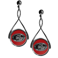 San Francisco 49ers Tear Drop Earrings - Our San Francisco 49ers are a sporty twist on the classic tear drop earrings. The high polish dangle earrings feature the team logo in raised metal against the primary team color inset into the 2 inch tear drop setting. The earrings have hypoallergenic stud posts. Officially licensed NFL product Licensee: Siskiyou Buckle .com