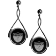 Oakland Raiders Tear Drop Earrings - Our Oakland Raiders are a sporty twist on the classic tear drop earrings. The high polish dangle earrings feature the team logo in raised metal against the primary team color inset into the 2 inch tear drop setting. The earrings have hypoallergenic stud posts. Officially licensed NFL product Licensee: Siskiyou Buckle Thank you for visiting CrazedOutSports.com