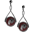 Washington Redskins Tear Drop Earrings - Our Washington Redskins are a sporty twist on the classic tear drop earrings. The high polish dangle earrings feature the team logo in raised metal against the primary team color inset into the 2 inch tear drop setting. The earrings have hypoallergenic stud posts. Officially licensed NFL product Licensee: Siskiyou Buckle. Thank you for visiting CrazedOutSports!