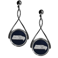 Seattle Seahawks Tear Drop Earrings - Our Seattle Seahawks are a sporty twist on the classic tear drop earrings. The high polish dangle earrings feature the team logo in raised metal against the primary team color inset into the 2 inch tear drop setting. The earrings have hypoallergenic stud posts. Officially licensed NFL product Licensee: Siskiyou Buckle .com