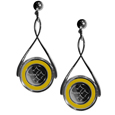 Pittsburgh Steelers Tear Drop Earrings - Our Pittsburgh Steelers are a sporty twist on the classic tear drop earrings. The high polish dangle earrings feature the team logo in raised metal against the primary team color inset into the 2 inch tear drop setting. The earrings have hypoallergenic stud posts. Officially licensed NFL product Licensee: Siskiyou Buckle .com