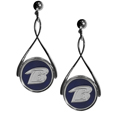 Baltimore Ravens Tear Drop Earrings - Our Baltimore Ravens are a sporty twist on the classic tear drop earrings. The high polish dangle earrings feature the team logo in raised metal against the primary team color inset into the 2 inch tear drop setting. The earrings have hypoallergenic stud posts. Officially licensed NFL product Licensee: Siskiyou Buckle .com