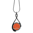Chicago Bears Tear Drop Necklace - Our Chicago Bears are a sporty twist on the classic tear drop pendants. The high polish pendant that features the team logo in raised metal against the primary team color inset into the 2 inch tear drop setting. The tear drop pendant comes on an 18 inch chain with a 2 inch link extender. Officially licensed NFL product Licensee: Siskiyou Buckle .com
