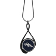 Denver Broncos Tear Drop Necklace - Our Denver Broncos are a sporty twist on the classic tear drop pendants. The high polish pendant that features the team logo in raised metal against the primary team color inset into the 2 inch tear drop setting. The tear drop pendant comes on an 18 inch chain with a 2 inch link extender. Officially licensed NFL product Licensee: Siskiyou Buckle Thank you for visiting CrazedOutSports.com