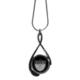 Oakland Raiders Tear Drop Necklace - Our Oakland Raiders are a sporty twist on the classic tear drop pendants. The high polish pendant that features the team logo in raised metal against the primary team color inset into the 2 inch tear drop setting. The tear drop pendant comes on an 18 inch chain with a 2 inch link extender. Officially licensed NFL product Licensee: Siskiyou Buckle. Thank you for visiting CrazedOutSports!