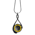 Pittsburgh Steelers Tear Drop Necklace - Our Pittsburgh Steelers are a sporty twist on the classic tear drop pendants. The high polish pendant that features the team logo in raised metal against the primary team color inset into the 2 inch tear drop setting. The tear drop pendant comes on an 18 inch chain with a 2 inch link extender. Officially licensed NFL product Licensee: Siskiyou Buckle .com