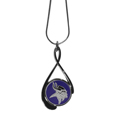 Minnesota Vikings Tear Drop Necklace - Our Minnesota Vikings are a sporty twist on the classic tear drop pendants. The high polish pendant that features the team logo in raised metal against the primary team color inset into the 2 inch tear drop setting. The tear drop pendant comes on an 18 inch chain with a 2 inch link extender. Officially licensed NFL product Licensee: Siskiyou Buckle .com