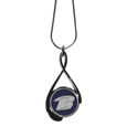 Baltimore Ravens Tear Drop Necklace - Our Baltimore Ravens are a sporty twist on the classic tear drop pendants. The high polish pendant that features the team logo in raised metal against the primary team color inset into the 2 inch tear drop setting. The tear drop pendant comes on an 18 inch chain with a 2 inch link extender. Officially licensed NFL product Licensee: Siskiyou Buckle .com