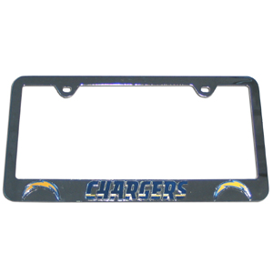 San Diego Chargers Tag Frame - This NFL San Diego Chargers steel tag frame has a 3D enameled San Diego Chargers logo. Officially licensed NFL product Licensee: Siskiyou Buckle .com
