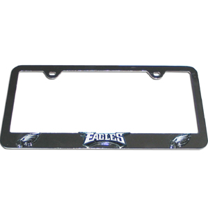 Philadelphia Eagles Tag Frame - NFL Philadelphia Eagles steel tag frame has a 3D enameled Philadelphia Eagles logo. Officially licensed NFL product Licensee: Siskiyou Buckle .com