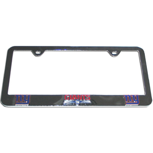 New York Giants Tag Frame - NFL New York Giants steel tag frame has a 3D enameled New York Giants logo. Officially licensed NFL product Licensee: Siskiyou Buckle .com