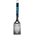 Miami Dolphins Tailgater Spatula - Our tailgater spatula really catches your eye with flashy chrome accents and vivid Miami Dolphins digital graphics. The 420 grade stainless steel spatula is a tough, heavy-duty tool that will last through years of tailgating fun. The spatula features a bottle opener and sharp serrated edge.