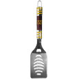 Washington Redskins Tailgater Spatula - Our tailgater spatula really catches your eye with flashy chrome accents and vivid Washington Redskins digital graphics. The 420 grade stainless steel spatula is a tough, heavy-duty tool that will last through years of tailgating fun. The spatula features a bottle opener and sharp serrated edge.