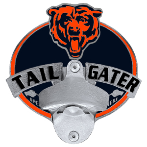 Tailgater Hitch Cover - Chicago Bears - Our tailgater hitch cover   features a functional bottle opener and team emblem with enameled finish. Officially licensed NFL product Licensee: Siskiyou Buckle .com