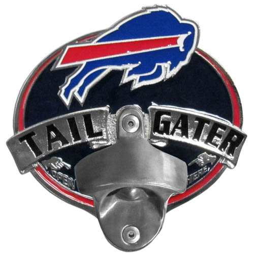 NFL Tailgater Hitch Cover -Buffalo Bills - Our tailgater hitch cover   features a functional bottle opener and team emblem with enameled finish. Officially licensed NFL product Licensee: Siskiyou Buckle .com