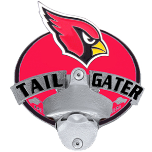 NFL Tailgater Hitch Cover -Arizona Cardinals - Our tailgater hitch cover   features a functional bottle opener and team emblem with enameled finish. Officially licensed NFL product Licensee: Siskiyou Buckle .com