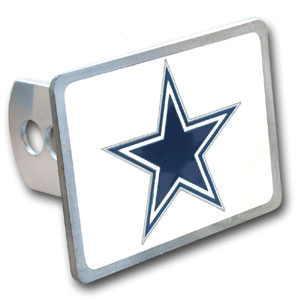 NFL Trailer Hitch LG - Dallas Cowboys - Our NFL Trailer Hitch Cover is hand painted with 3-D carved logo. Hardware included. Enameled on durable, rust-proof zinc. Fits Class II and Class III hitches. Check out our extensive line of  automotive accessories! Officially licensed NFL product Licensee: Siskiyou Buckle .com