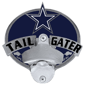 NFL Tailgater Hitch Cover -Dallas Cowboys - Our tailgater hitch cover   features a functional bottle opener and team emblem with enameled finish. Officially licensed NFL product Licensee: Siskiyou Buckle Thank you for visiting CrazedOutSports.com