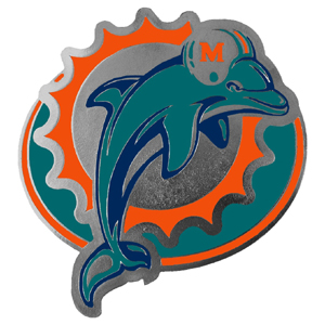 "NFL Hitch Cover -Miami Dolphins - Our NFL hitch cover is a durable and attractive way to show off your team spirit. The hitch fits a 2"" hitch receiver. Officially licensed NFL product Licensee: Siskiyou Buckle .com"