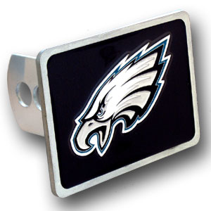 NFL Trailer Hitch LG - Philadelphia Eagles - Our NFL Trailer Hitch Cover is hand painted with 3-D carved logo. Hardware included. Enameled on durable, rust-proof zinc. Fits Class II and Class III hitches. Check out our extensive line of  automotive accessories! Officially licensed NFL product Licensee: Siskiyou Buckle .com