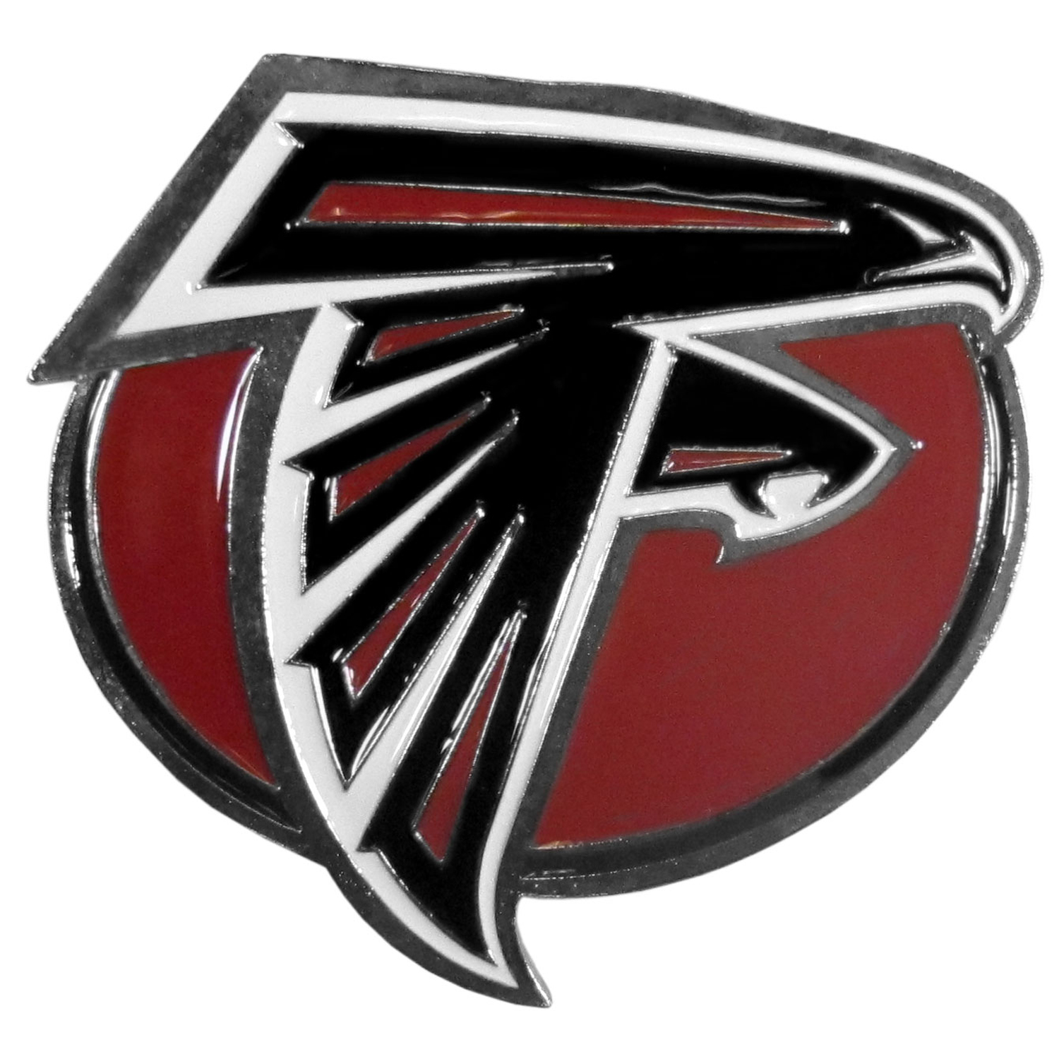 Atlanta Falcons Hitch Cover Class III Wire Plugs - Our lighter weight, full-metal hitches are still tougher than your average hitch cover at 1/8 of an inch thick. The heavy-duty cast zinc hitch plate feature the Atlanta Falcons logo with enameled detail. The wire hitch plugs are included for the class III hitch receivers.