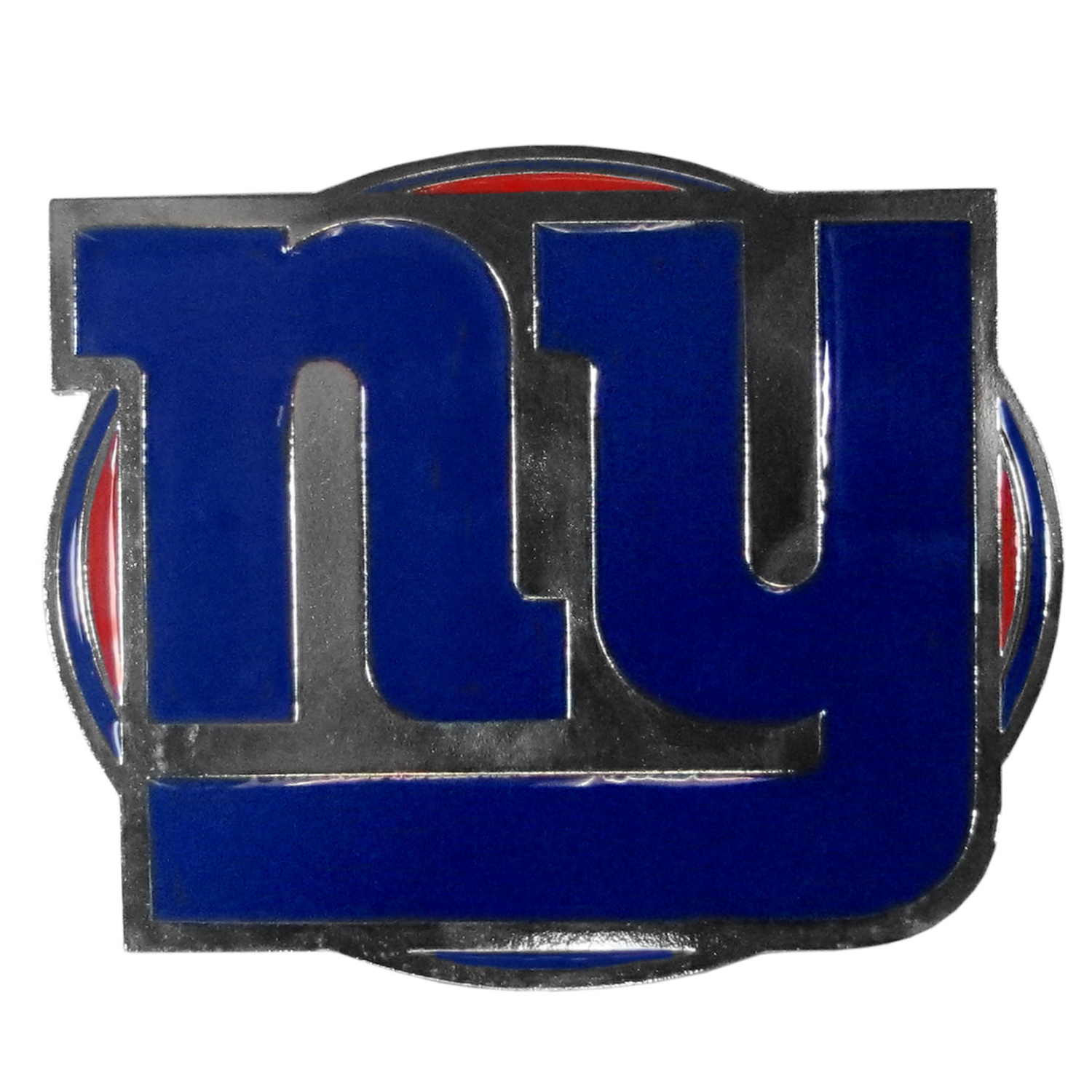 New York Giants Hitch Cover Class III Wire Plugs - Our lighter weight, full-metal hitches are still tougher than your average hitch cover at 1/8 of an inch thick. The heavy-duty cast zinc hitch plate feature the New York Giants logo with enameled detail. The wire hitch plugs are included for the class III hitch receivers.