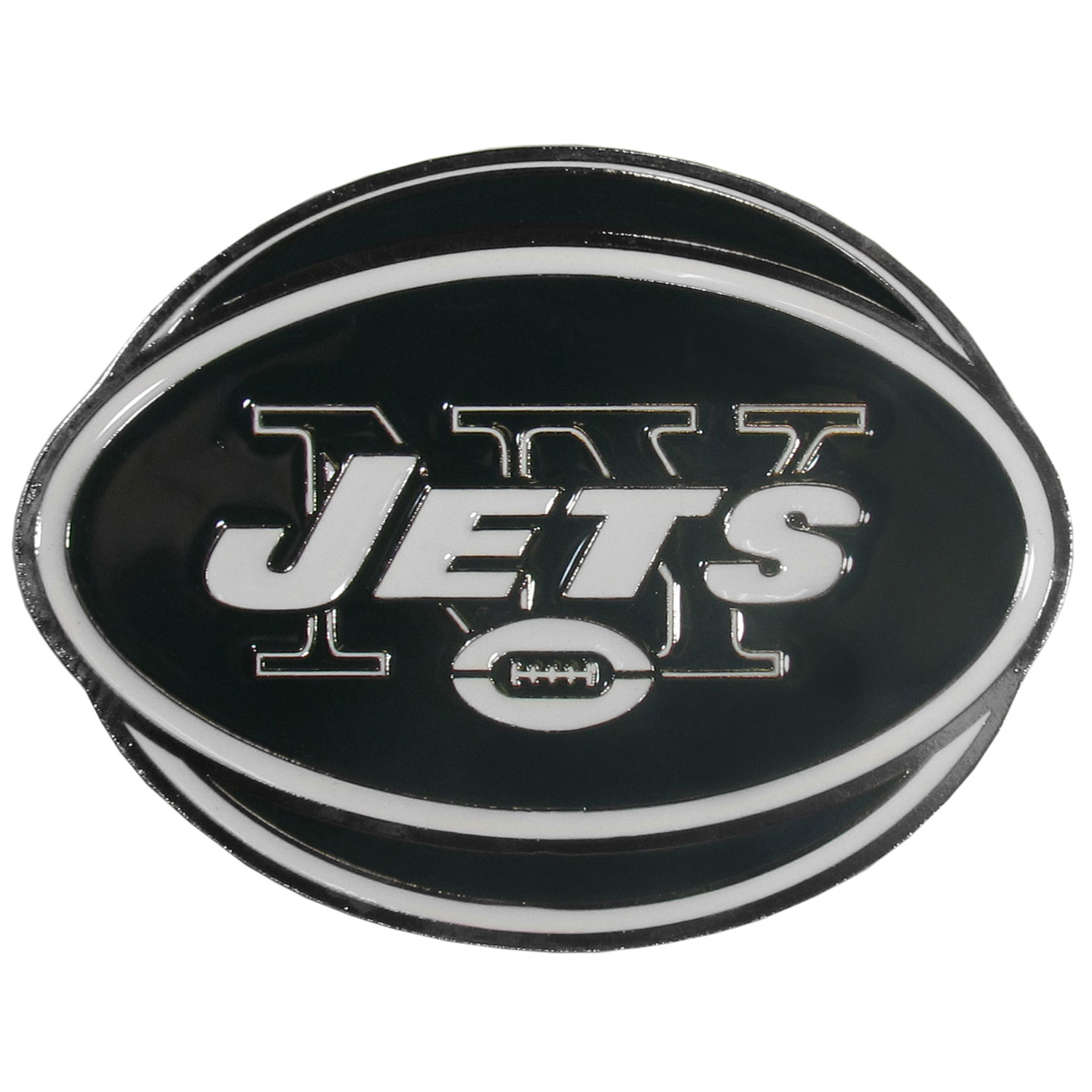 "NFL Hitch Cover -New York Jets - Our NFL hitch cover is a durable and attractive way to show off your team spirit. The hitch fits a 2"" hitch receiver. Officially licensed NFL product Licensee: Siskiyou Buckle Thank you for visiting CrazedOutSports.com"