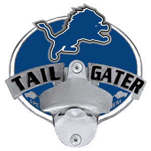 NFL Tailgater Hitch Cover -Detroit Lions - Our tailgater hitch cover   features a functional bottle opener and team emblem with enameled finish. Officially licensed NFL product Licensee: Siskiyou Buckle Thank you for visiting CrazedOutSports.com