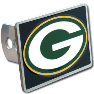 NFL Trailer Hitch LG - Green Bay Packers - Our NFL Trailer Hitch Cover is hand painted with 3-D carved logo. Hardware included. Enameled on durable, rust-proof zinc. Fits Class II and Class III hitches. Check out our extensive line of  automotive accessories! Officially licensed NFL product Licensee: Siskiyou Buckle Thank you for visiting CrazedOutSports.com