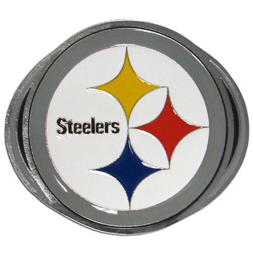 "NFL Hitch Cover -Pittsburgh Steelers - Our NFL hitch cover is a durable and attractive way to show off your team spirit. The hitch fits a 2"" hitch receiver. Officially licensed NFL product Licensee: Siskiyou Buckle .com"