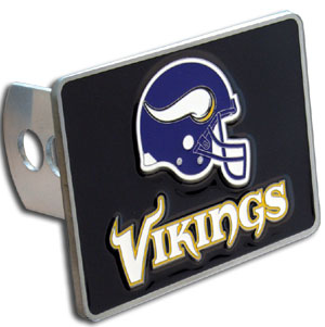 NFL Trailer Hitch LG - Minnesota Vikings - Our NFL Trailer Hitch Cover is hand painted with 3-D carved logo. Hardware included. Enameled on durable, rust-proof zinc. Fits Class II and Class III hitches. Check out our extensive line of  automotive accessories! Officially licensed NFL product Licensee: Siskiyou Buckle .com