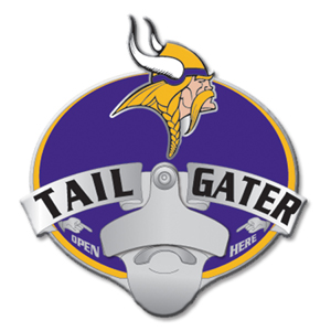 NFL Tailgater Hitch Cover -Minnesota Vikings - Our tailgater hitch cover   features a functional bottle opener and team emblem with enameled finish. Officially licensed NFL product Licensee: Siskiyou Buckle Thank you for visiting CrazedOutSports.com