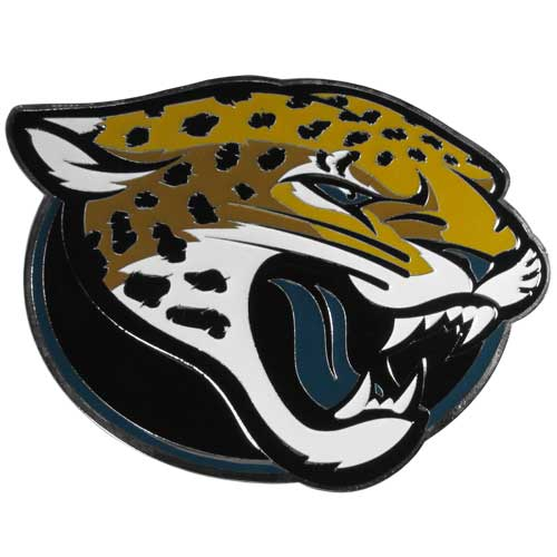 "NFL Hitch Cover -Jacksonville Jaguars - Our NFL hitch cover is a durable and attractive way to show off your team spirit. The hitch fits a 2"" hitch receiver. Officially licensed NFL product Licensee: Siskiyou Buckle Thank you for visiting CrazedOutSports.com"