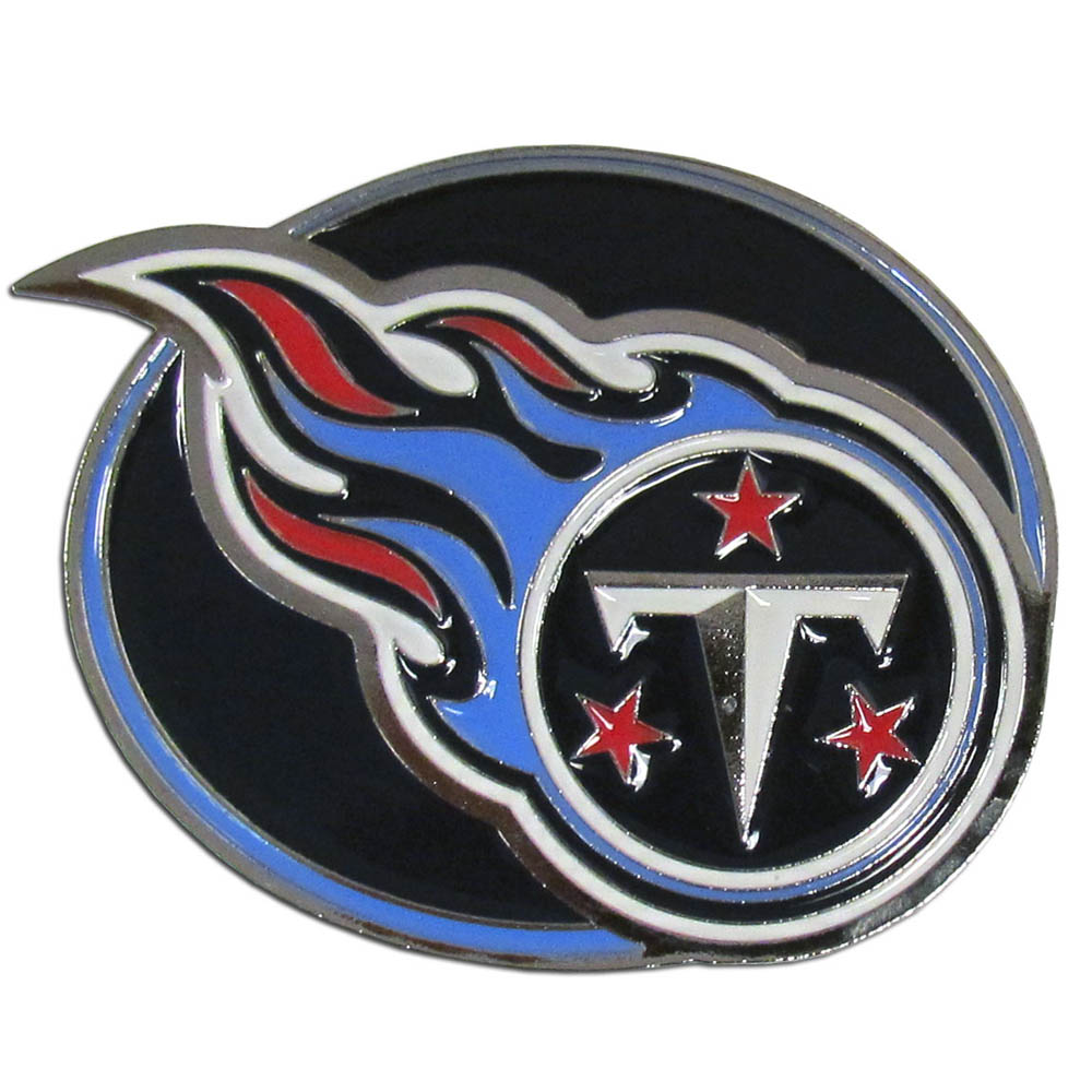 Tennessee Titans Hitch Cover Class III Wire Plugs - Our lighter weight, full-metal hitches are still tougher than your average hitch cover at 1/8 of an inch thick. The heavy-duty cast zinc hitch plate feature the Tennessee Titans logo with enameled detail. The wire hitch plugs are included for the class III hitch receivers.