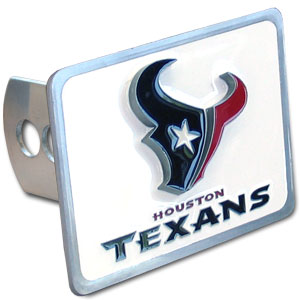 NFL Trailer Hitch LG - Houston Texans - Our NFL Trailer Hitch Cover is hand painted with 3-D carved logo. Hardware included. Enameled on durable, rust-proof zinc. Fits Class II and Class III hitches. Check out our extensive line of  automotive accessories! Officially licensed NFL product Licensee: Siskiyou Buckle .com