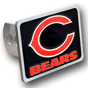 NFL Trailer Hitch  - Chicago Bears - Our NFL Trailer Hitch Cover is hand painted with 3-D carved logo. Hardware included. Enameled on durable, rust-proof zinc. Fits Class II and Class III hitches. Check out our extensive line of  automotive accessories! Officially licensed NFL product Licensee: Siskiyou Buckle .com