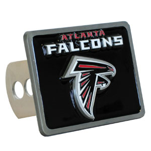 NFL Trailer Hitch - Atlanta Falcons - Our NFL Trailer Hitch Cover is hand painted with 3-D carved logo. Hardware included. Enameled on durable, rust-proof zinc. Fits Class II and Class III hitches. Check out our extensive line of  automotive accessories! Officially licensed NFL product Licensee: Siskiyou Buckle .com