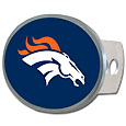 Denver Broncos Oval Metal Hitch Cover Class II and III - This economical hitch cover has a full metal backing and features a lacquered Denver Broncos logo. The kit includes metal plugs, screws and bracket. Officially licensed NFL product Licensee: Siskiyou Buckle. Thank you for visiting CrazedOutSports!