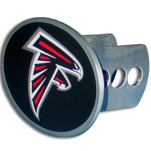NFL Hitch Cover - Atlanta Falcons - Our officially licensed NFL oval hitch cover is made of durable zinc and fits class II and class III hitch covers. Officially licensed NFL product Licensee: Siskiyou Buckle .com