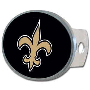 NFL Hitch Cover - New Orleans Saints - Our officially licensed NFL oval hitch cover is made of durable zinc and fits class II and class III hitch covers. Officially licensed NFL product Licensee: Siskiyou Buckle .com