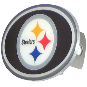 NFL Hitch Cover - Pittsburgh Steelers - Our officially licensed NFL oval hitch cover is made of durable zinc and fits class II and class III hitch covers. Officially licensed NFL product Licensee: Siskiyou Buckle .com