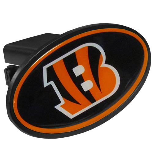 Cincinnati Bengals Plastic Hitch Cover - Officially licensed NFL plastic hitch cover with team logo design. Fits class III hitch receivers. Officially licensed NFL product Licensee: Siskiyou Buckle .com