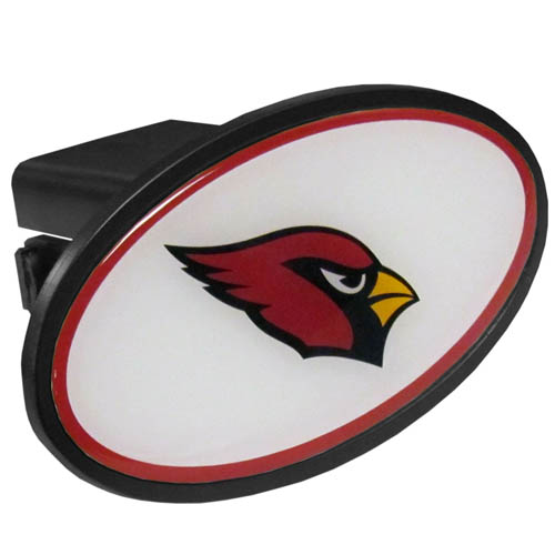 Arizona Cardinals Plastic Hitch Cover - Officially licensed NFL plastic hitch cover with team logo design. Fits class III hitch receivers. Officially licensed NFL product Licensee: Siskiyou Buckle .com