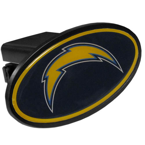 San Diego Chargers Plastic Hitch Cover - Officially licensed NFL plastic hitch cover with team logo design. Fits class III hitch receivers. Officially licensed NFL product Licensee: Siskiyou Buckle .com